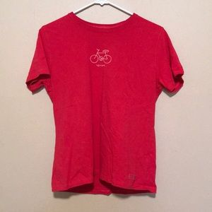 Life is Good Red Bicycle Short Sleeve T Shirt